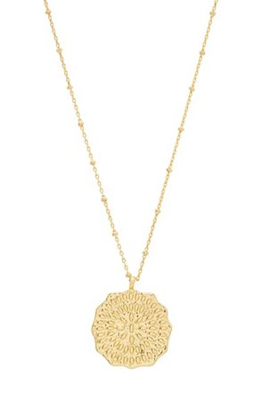 gorjana Mosaic Coin Pendant Necklace | Nordstrom