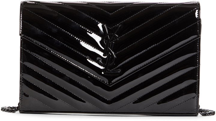 Monogram Quilted Patent Leather Wallet on a Chain