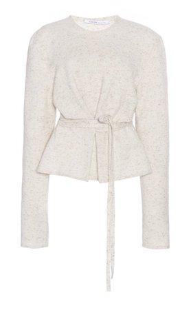 Cashmere-Blend Belted Sweater By Agnona | Moda Operandi
