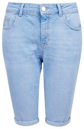Light Blue Denim Knee Shorts
