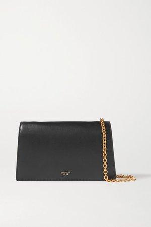 Hazel Leather Shoulder Bag - Black