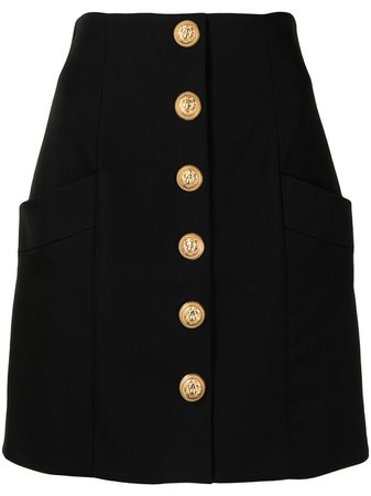 Balmain high-waisted Buttoned Skirt - Farfetch