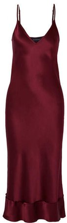 Mathews - Rose Silk-satin Midi Dress - Burgundy