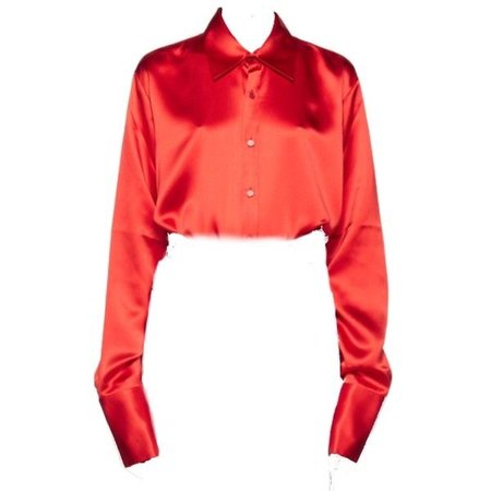 Martine Rose | Womens Red Shirts Red Silk Shirt Red