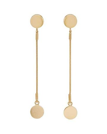 Lyst - Isabel Marant Gold Long Boo Boo Earrings in Metallic