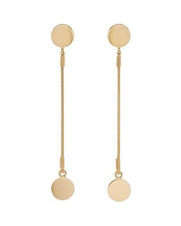 Lyst - Isabel Marant Gold Long Boo Boo Earrings in Metallic