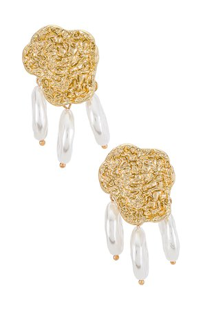 Amber Sceats Pearl Embellished Earrings in Gold | REVOLVE