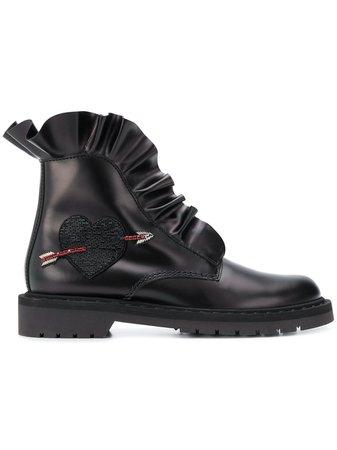 Valentino Garavani Ruffled Ankle Boots