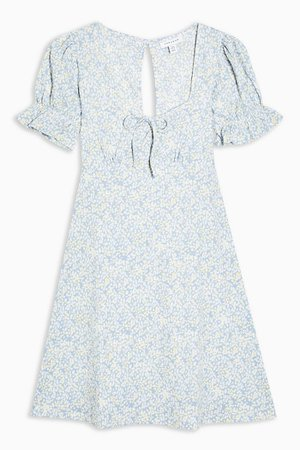 Blue Open Back Flippy Dress | Topshop