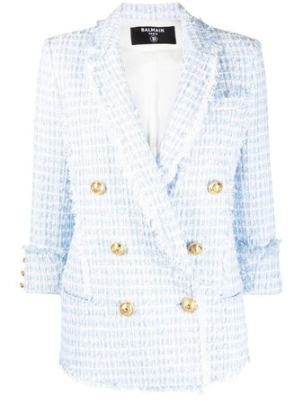 Balmain double-breasted Tweed Blazer - Farfetch