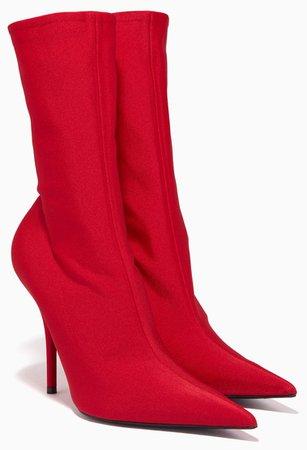 BALENCIAGA Red Knife Boots