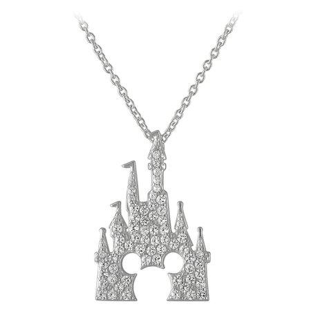 Mickey Mouse Fantasyland Castle Necklace by Rebecca Hook - Silver | shopDisney