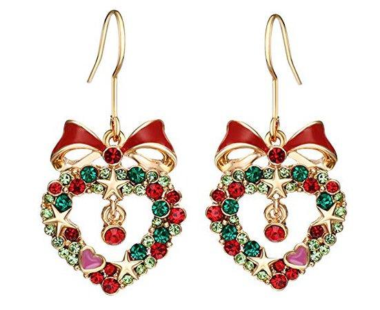 Neoglory Heart Crystal Drop Earrings Rhinestone Platinum Plated Fashion Jewelry Women Gift: Stud Earrings: Jewelry