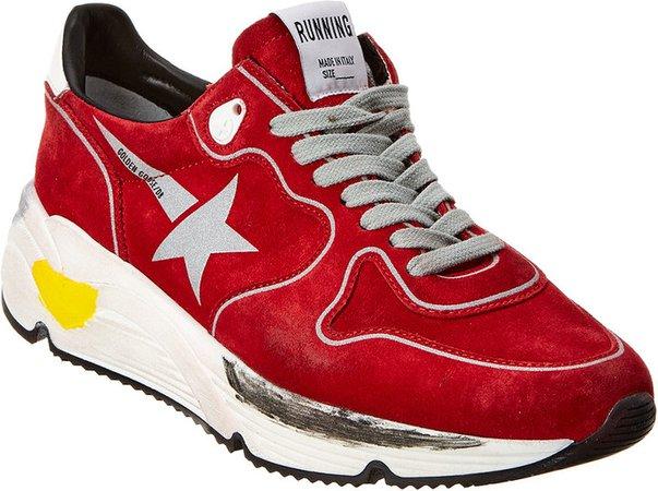 Running Sole Suede Sneaker