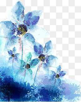 Watercolor Blue Flowers PNG Images | Vectors and PSD Files | Free Download on Pngtree