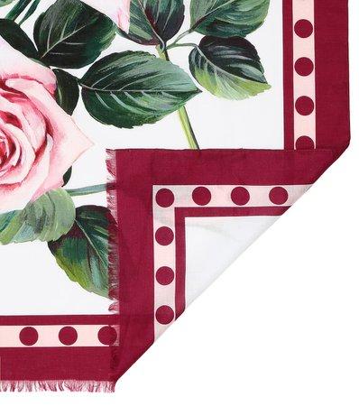 Floral Cotton Scarf | Dolce & Gabbana - Mytheresa