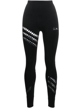 Adidas By Stella Mccartney Warp Knit Leggings Ss20 | Farfetch.com