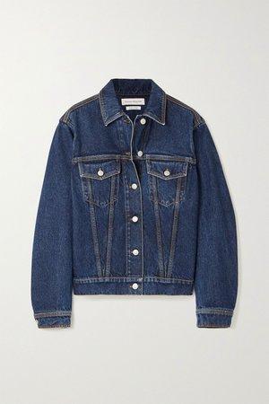 Blue Oversized denim jacket | Alexander McQueen | NET-A-PORTER