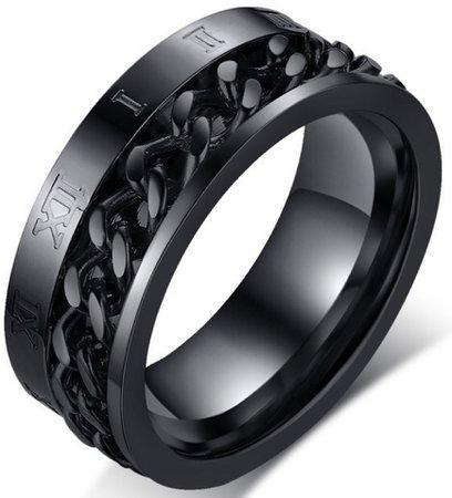 Black Chain Ring
