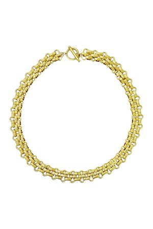 Savvy Cie | 18K Gold Plated Panther Link Toggle Necklace | Nordstrom Rack