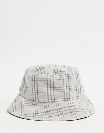 My Accessories London Exclusive reversible bucket hat in black and check print | ASOS