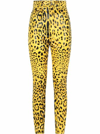 Shop Dolce & Gabbana leopard-print trousers with Express Delivery - FARFETCH