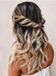 half up half down hair style - Google Search