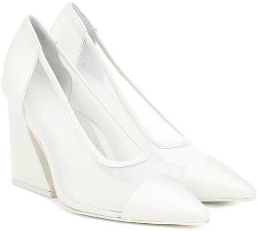 Athena leather-trimmed pumps