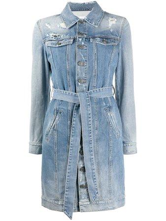 Givenchy robe-chemise En Jean à Effet Usé - Farfetch