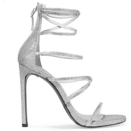Silver Sandal Heels