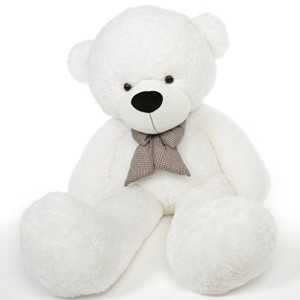 coco cuddles 6 foot life size teddy bear heavenly white color fluffy plush toy - Buscar con Google