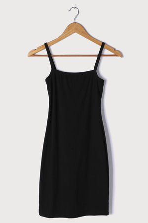 Black Bodycon Dress - Ribbed Mini Dress - Sleeveless Mini Dress - Lulus