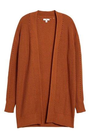 rust cardigan