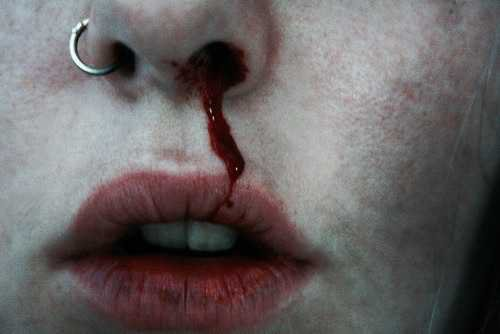• photography tumblr photo hipster Grunge lips teeth artsy fade nose pale bleed filter nose ring filters nosering pale grunge nasal nocny-wrzask •