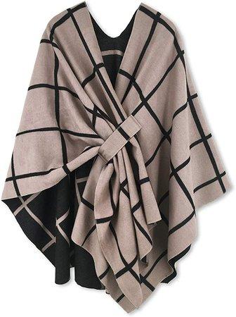 Moss Rose Women's Shawl Wrap Poncho Ruana Cape Open Front Cardigan for Fall Winter at Amazon Women's Clothing store