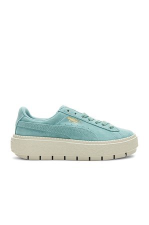 Suede Platform Trace Sneaker