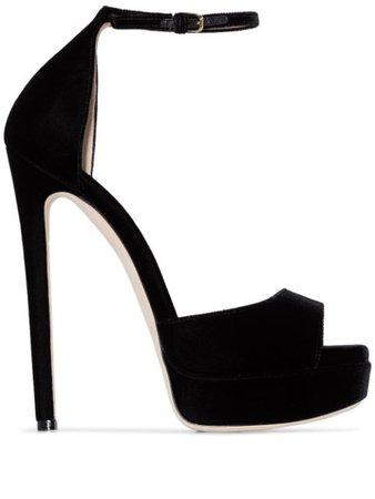 Black Jimmy Choo Max 150Mm Platform Sandals   Farfetch.com