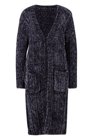 Cable Chenille Cardigan | Boohoo