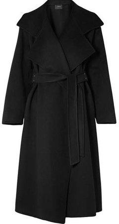Belted Cashmere Coat - Black