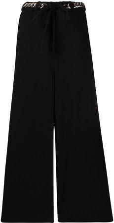 chain belt palazzo trousers