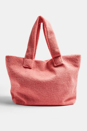 Pink Large Borg Tote Bag | Topshop