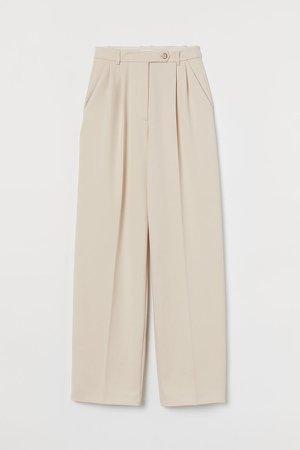Wide-cut Pants - White