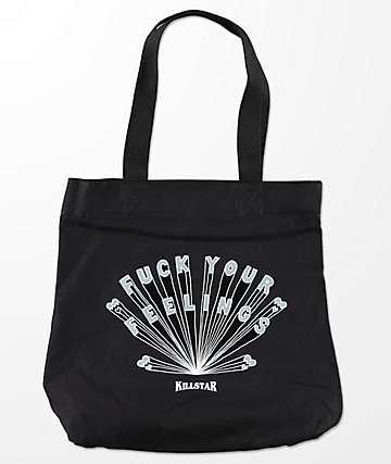 F*ck Your Feelings Black Tote Bag - KILLSTAR