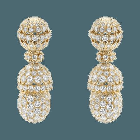 Van Cleef & Arpels, Diamond gold earrings