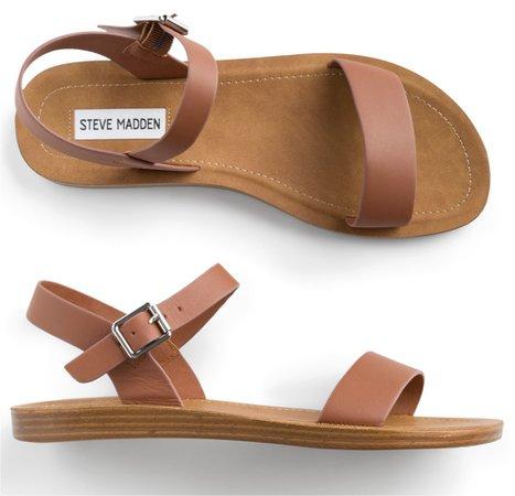 brown Steve Madden strap sandal