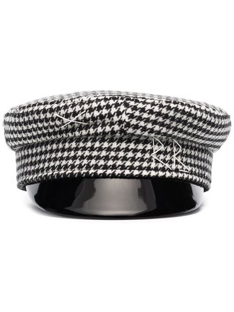 Ruslan Baginskiy houndstooth-check Baker Boy Hat - Farfetch
