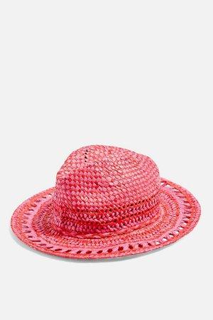 Pink Straw Fedora | Topshop
