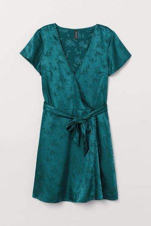 V-neck Dress - Turquoise