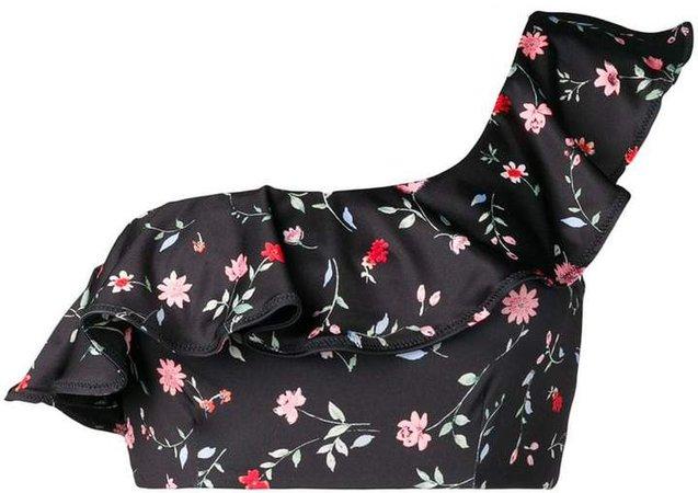 asymmetric floral bikini