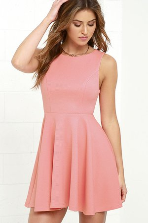 Cute Coral Pink Dress